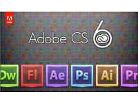 ADOBE CS6 COMPLETE MASTER COLLECTION for MAC or PC