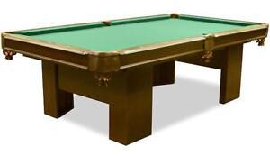 Table billard avec ardoise véritable • Real slate pool table
