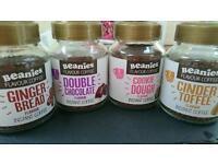 Job lot 120 jars Beanies Instant flavoured