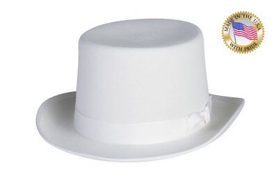 WHITE TOP HAT Shannon Phillips Wool Tuxedo Topper ALL SIZES New All Sizes USA