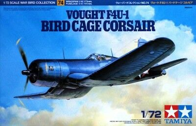 Tamiya 60774 1/72 Scale Fighter Aircraft Model Kit Vought F4U-1 BirdCage Corsair