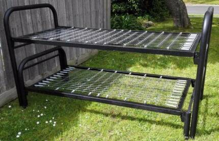 metal frame bunk bed with mattressesss