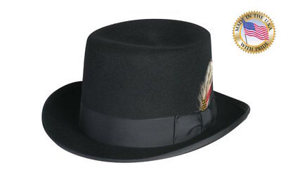 Shannon Phillips BLACK Top Hat DELUXE Morfelt LINED Tuxedo Topper NEW ALL SIZES