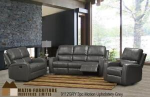 3pc motion upholstery recliner in Charcoal Grey MA10 9112GRY-3 (BD-1379)