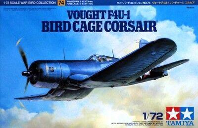 Tamiya 60774 1/72 Aircraft Model Kit U.S.Navy Vought F4U-1 Bird Cage Corsair