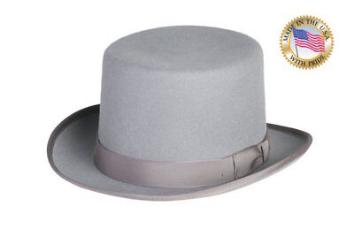 Shannon Phillips GREY TOP Hat Wool Tuxedo Topper ALL SIZES New USA