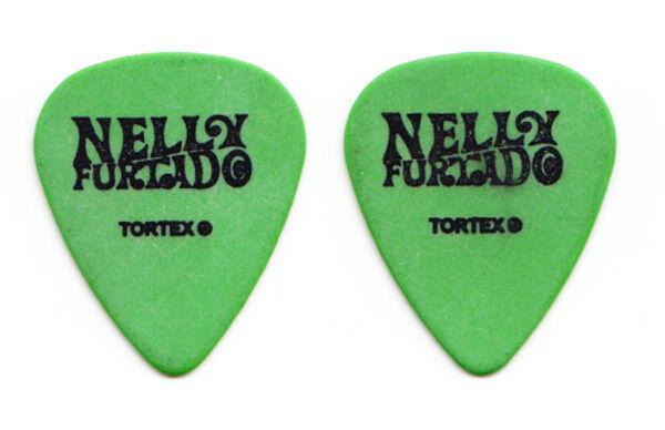 Nelly Furtado Green Guitar Pick - 2006 Tour