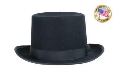 Shannon Phillips Classic BLACK TOP Hat Wool Tuxedo Topper NEW All Sizes USA