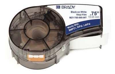 BRADY M21-750-595-WT Label Cartridge,Black/White,3/4 In. W