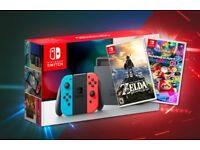 Switch console - With Zelda BOTW & Mario Kart