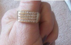 NEW MEN'S 10k DIAMOND RING