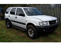 Vauxhall frontera spares or repairs gas converted non runner
