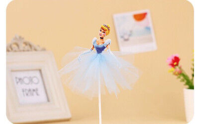 CLEARANCE!!! DISNEY FROZEN CAKE TOPPER FLAG kids party - Cinderella in tutu ()