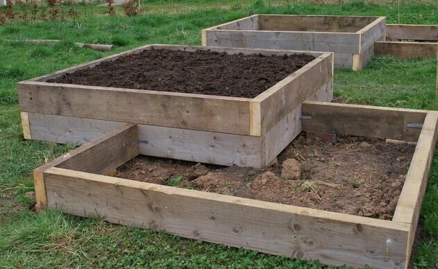 Used Scaffold Planks for Gardeners raised beds planters
