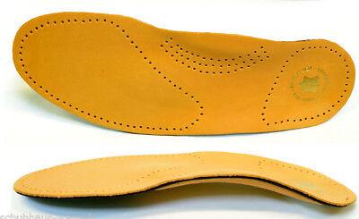 Leder Schuheinlage mit Fußbett Fußstütze Hilft bei Fersensporn u