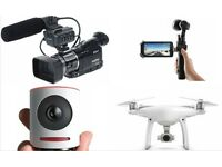 Videographer - Experienced with Camcorder, DRONE, Sound - and Post-Edit Skills... London or near M25