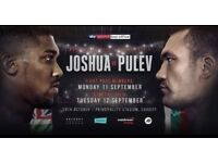 2 x Floor Seats for Anthony Joshua vs takem at Principality Stadium on 28th October 2017 cardiff