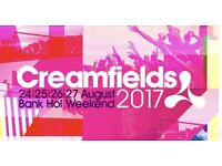Creamfields 2017 - X2 4 Day Silver Camping Tickets