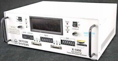Netcom X-1000 90-264vac Fast Ethernet Bench Top Testerstimulatoranalyzer