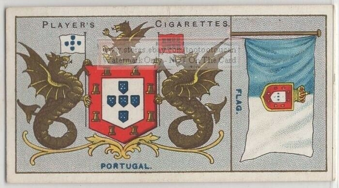 Portugal Flag Banner Emblem 110+ Y/O Ad Trade Card