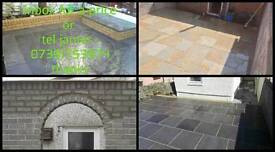 brickwork, patios and artificial grass