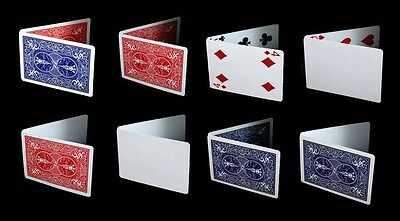 Bicycle Magic Gaff Deck Playing Cards Double Back Blank Face Trick Red Blue 1 PC Blank Deck Trick