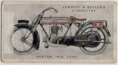 Vintage Norton Big Four  Model  Motorcycle 1923 Trade Ad Card Motorcycle Big Card