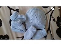 Brand new hand made baby beanie sets
