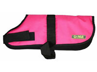 """Go Walk Durable Dog Coat, Pink, Size 28"""" XXL. Designed with durability and comfort"""