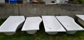 4x Baths, 1500 x 900, 1690 x 900, 1800 x 800 (P baths & Oval) for sale  Grangemouth, Falkirk