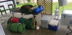 Assorted camping gear