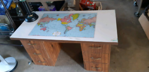 Map desk in good condition. Solid. Has legs not showing