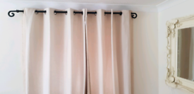 Curtains with poles (3 pairs sold as individual pairs or as a group)