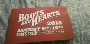 Selling two GA Boots and Hearts unregistered wristbands
