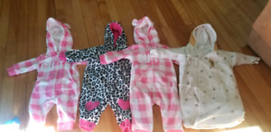 Baby girls 0-6 month clothing lot.