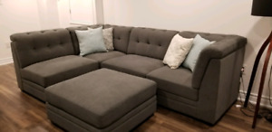 Brand New Grey Modular Sectional Couch