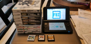 Modded Nintendo 3DS XL with games
