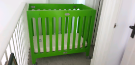 Alma Bloom Mini cot space saver crib wheels