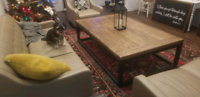 Modern Farmhouse Reclaimed Wood and Iron Coffee Table