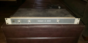 Crown D60 Dual rack Stereo power amp