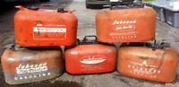 Antique Old Boat Gas Can Lot JOHNSON EVINRUDE