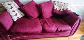 **Free** Burgundy 3 seater sofa