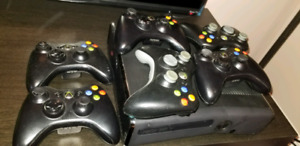 Christmas gift!  Xbox 360, 22 games, 5 controllers, kinect