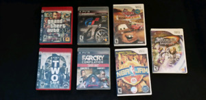 Ps3 and Wii games