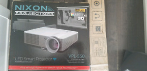 """HD PROJECTOR WITH 72"""" SCREEN"""