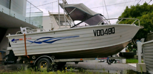Quintrex 5Mtr Aluminium Boat, Great family fishing 1998 package