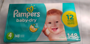 Pampers baby dry diapers 148pack size 4