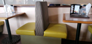 4ft and 2ft booths - restaurant dining