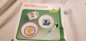 Sesame Street 4 piece bowl and cup