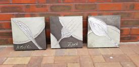3 Quintessa Art kitchen canvas paintings